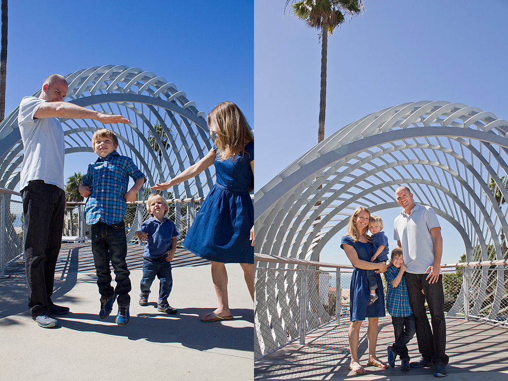 santa monica family photo shoot